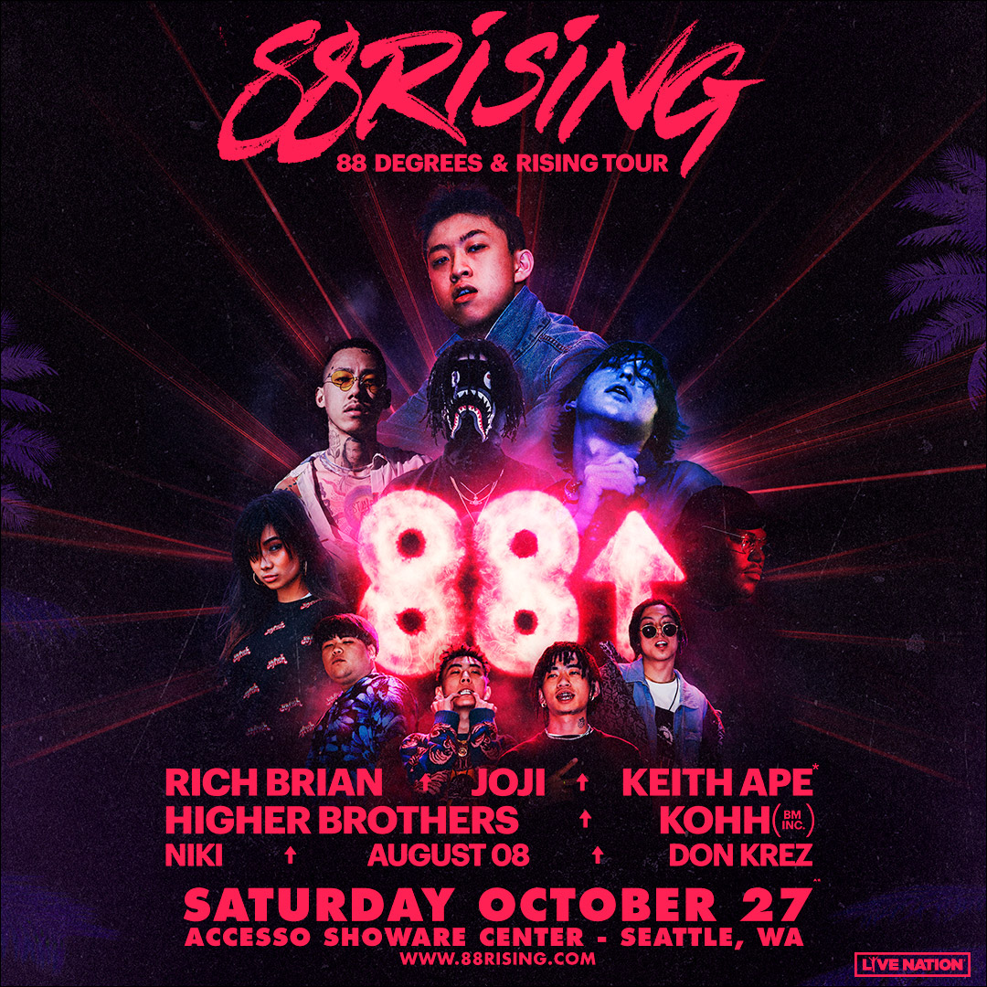 Tickets 88rising 88 Degrees Rising Tour Vip Packages Accesso