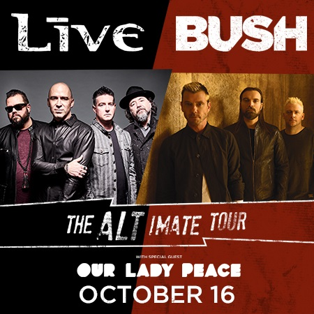 Tickets | + LIVE+ & Bush - The Altimate Tour VIP Packages | accesso